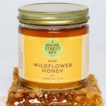 Locally Sourced Raw, Maine Wildflower Honey 8oz