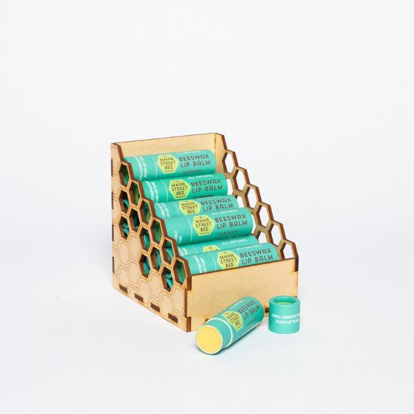 Beeswax Lip Balm in Display