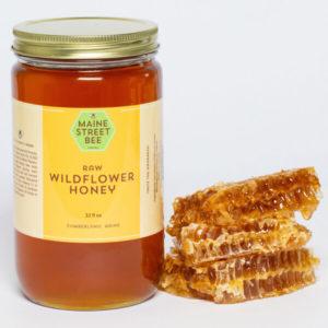 Locally Sourced Raw, Maine Wildflower Honey 32 oz